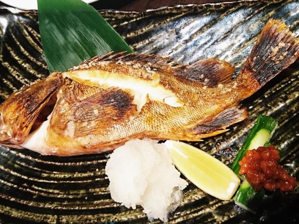 亜紗 カサゴの塩焼き