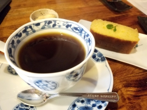 珈琲家_ブランデーケーキセット