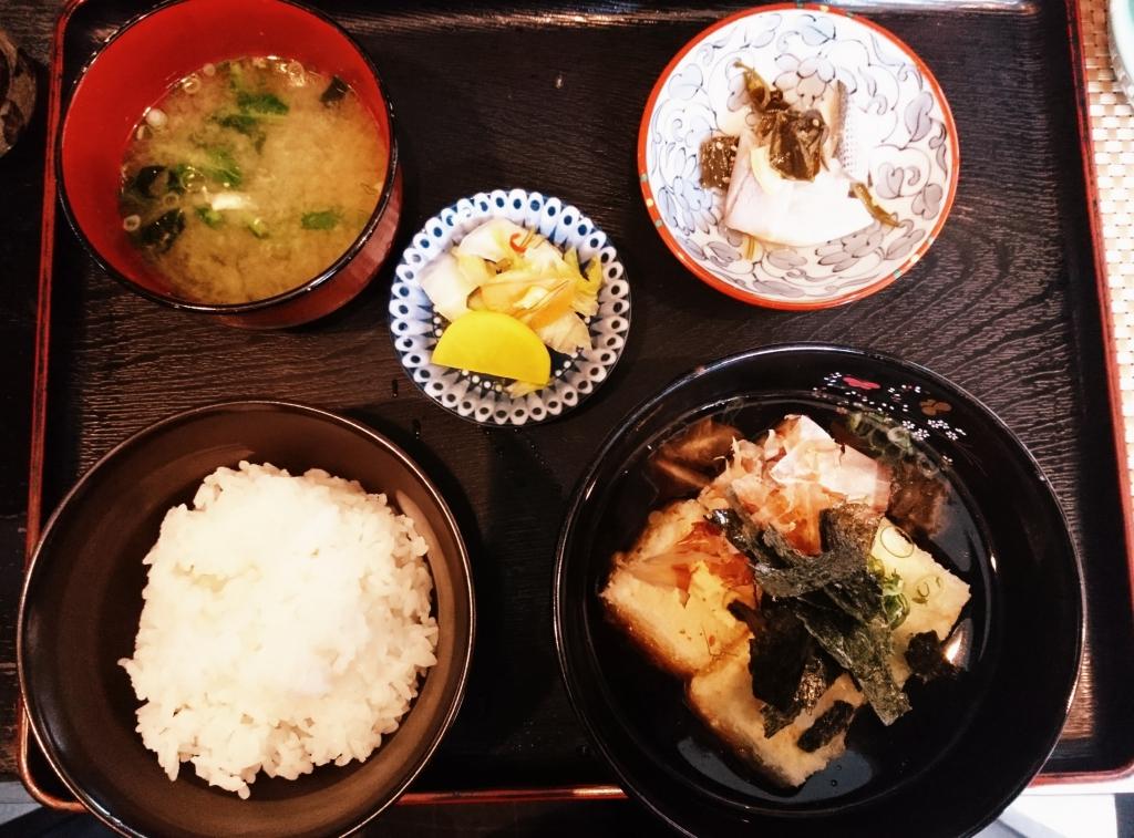 揚げ出し豆腐定食 650円