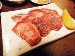 牛タン(700円)噛み応えがありますが薄切りなので堅くはないです。