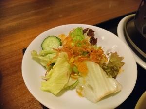 定食のサラダ