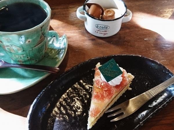 ケーキとコーヒーセット(756円)
