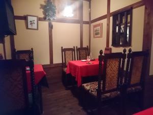 お店奥のテーブル席