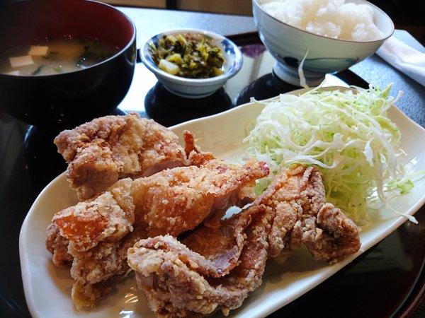 唐揚骨ぬき定食(650円)