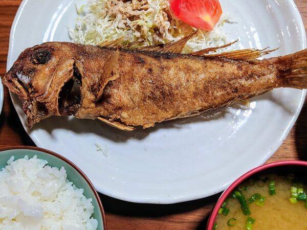 アマダイの唐揚げ定食(650円)
